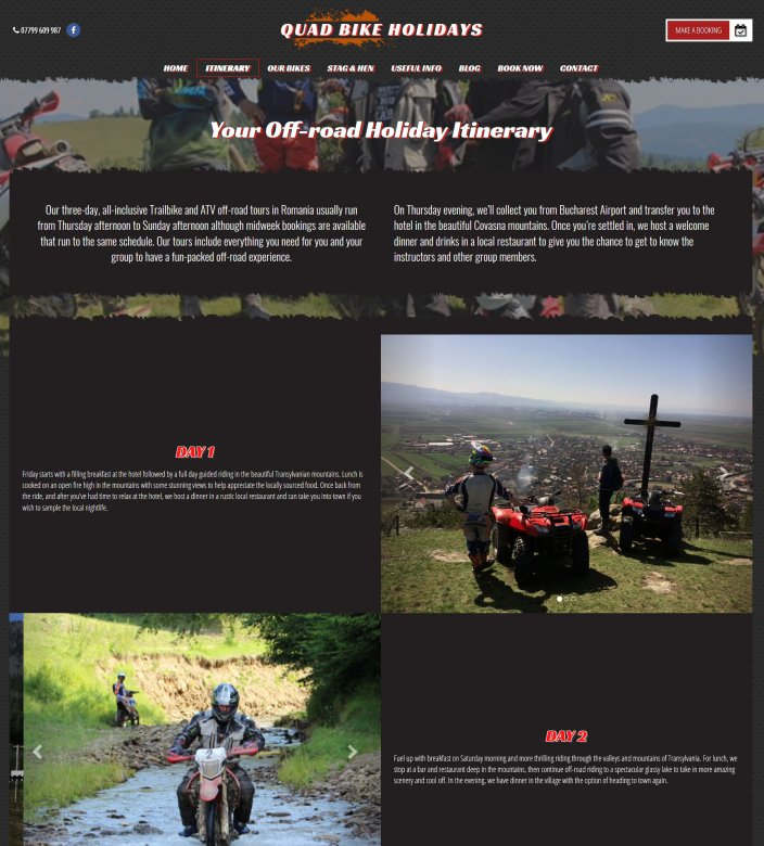 Quad Bike Holidays - Itinerary